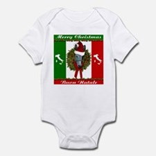 Donkey Buon Natale Christmas Infant Bodysuit