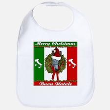 Donkey Buon Natale Christmas Bib