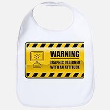 Warning Graphic Designer Bib