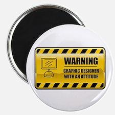 Warning Graphic Designer Magnet