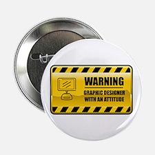 "Warning Graphic Designer 2.25"" Button"