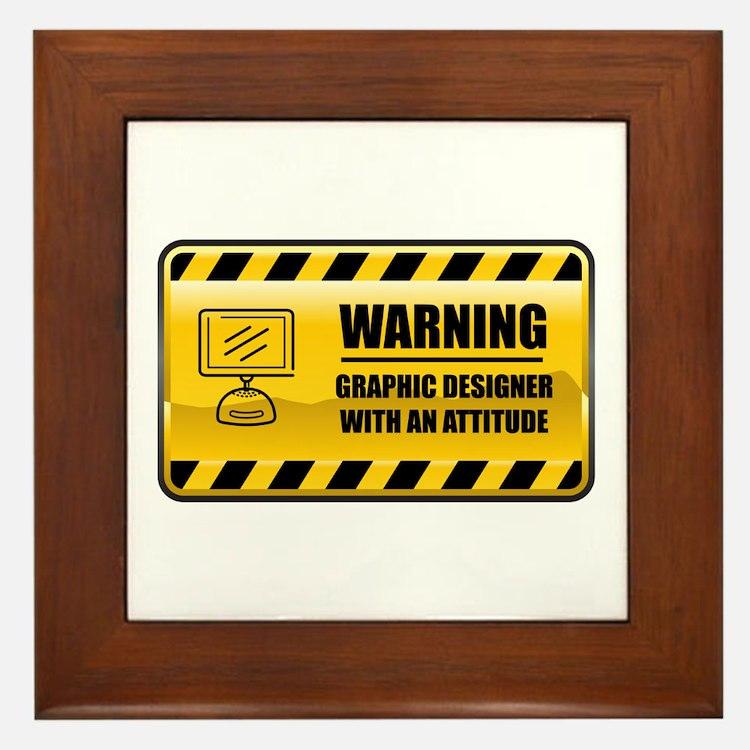 Warning Graphic Designer Framed Tile