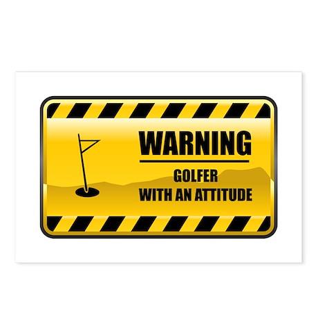 Warning Golfer Postcards (Package of 8)