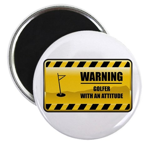 Warning Golfer Magnet