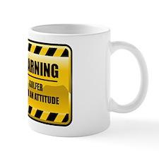 Warning Golfer Mug