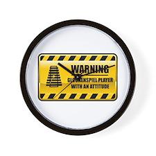Warning Glockenspiel Player Wall Clock