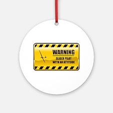 Warning Glider Pilot Ornament (Round)