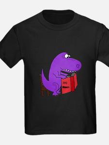 Dinosaur Reading T-Shirt