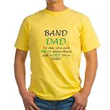 Band dad Mens Yellow T-shirts