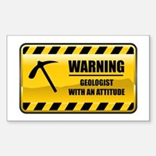 Warning Geologist Rectangle Decal