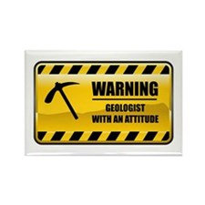 Warning Geologist Rectangle Magnet (10 pack)