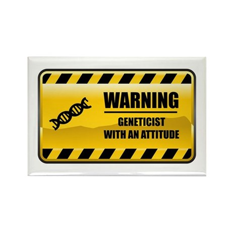 Warning Geneticist Rectangle Magnet (100 pack)