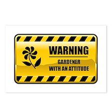 Warning Gardener Postcards (Package of 8)
