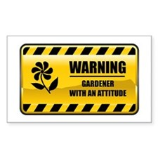Warning Gardener Rectangle Decal