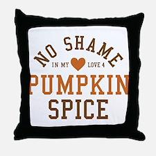 Pumpkin Spice No Shame Throw Pillow