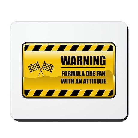 Warning Formula One Fan Mousepad