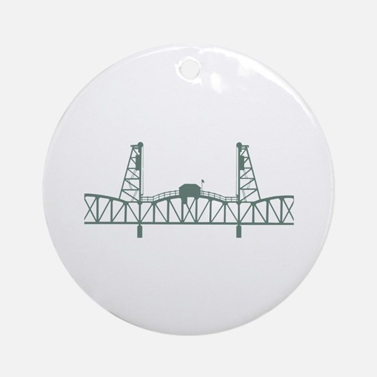 Hawthorne Bridge Round Ornament