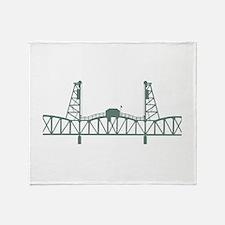 Hawthorne Bridge Throw Blanket