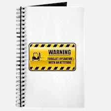Warning Forklift Operator Journal