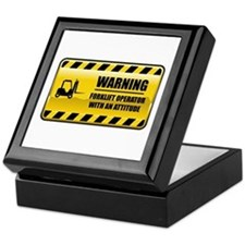 Warning Forklift Operator Keepsake Box
