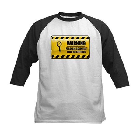 Warning Forensic Scientist Kids Baseball Jersey