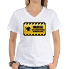 Warning Food Service Person Shirt