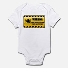 Warning Food Service Person Infant Bodysuit