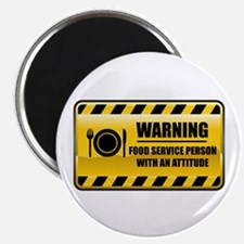 Warning Food Service Person Magnet