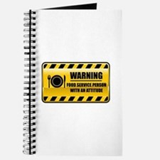 Warning Food Service Person Journal