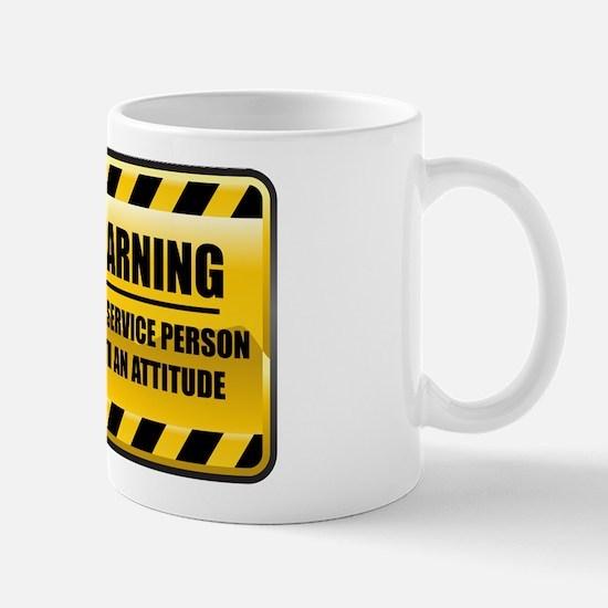 Warning Food Service Person Mug