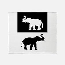 Elephants Throw Blanket