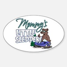 Mommy's Little Sledder Oval Decal