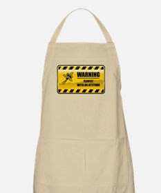 Warning Florist BBQ Apron