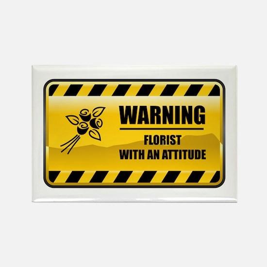 Warning Florist Rectangle Magnet