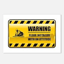 Warning Floor Installer Postcards (Package of 8)