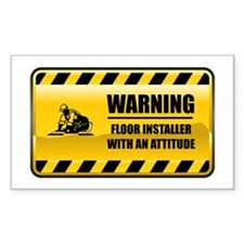 Warning Floor Installer Rectangle Decal