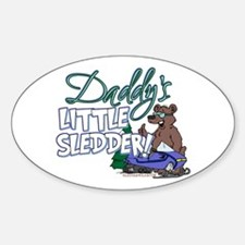 Daddy's Little Sledder Oval Decal