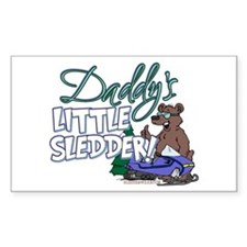Daddy's Little Sledder Rectangle Decal