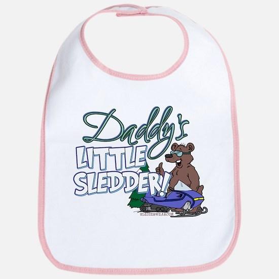 Daddy's Little Sledder Bib