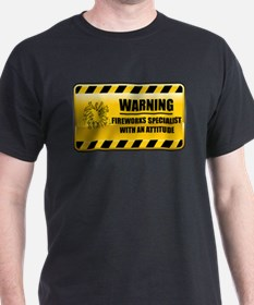 Warning Fireworks Specialist T-Shirt
