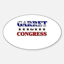 GARRET for congress Oval Decal