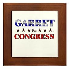 GARRET for congress Framed Tile