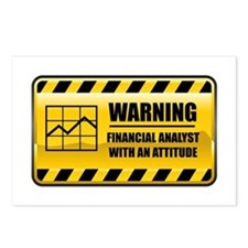Warning Financial Analyst Postcards (Package of 8)