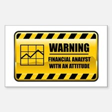 Warning Financial Analyst Rectangle Decal