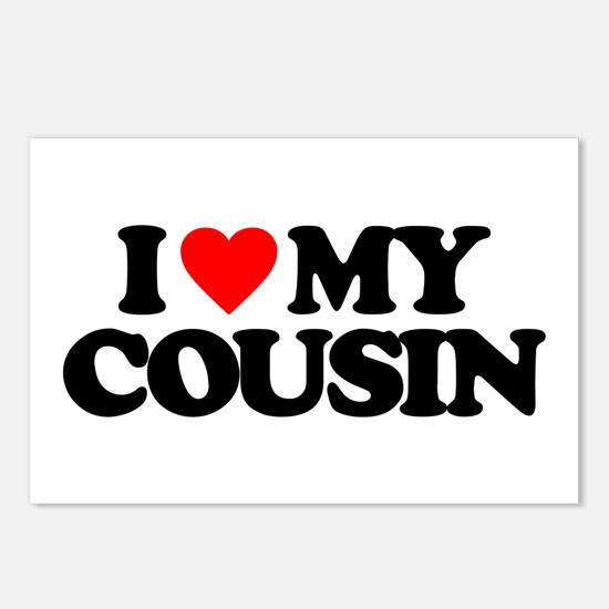 I LOVE MY COUSIN Postcards (Package of 8)