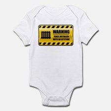 Warning Fence Installer Infant Bodysuit