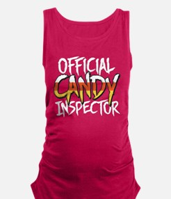 Official Candy Inspector Maternity Tank Top