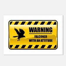 Warning Falconer Postcards (Package of 8)