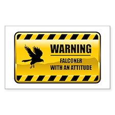 Warning Falconer Rectangle Decal