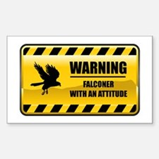 Warning Falconer Rectangle Decal